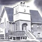 St Paul Lutheran With Ink Art Print