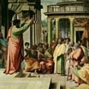 St. Paul Preaching At Athens  Art Print