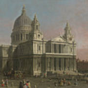 St. Paul's Cathedral Print by Giovanni Antonio Canaletto