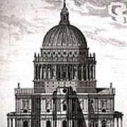 St. Pauls Drawn By Christopher Wren Art Print