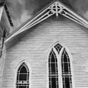 St Peter United Methodist Church-digital Art Art Print