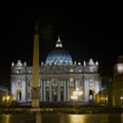 St Peter's At Night Art Print