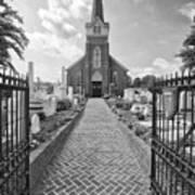 Church And Gravemarkers Art Print