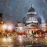 St. Petersburg.isaac Square Art Print