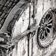 St. Saviour Church Window - Black And White Art Print
