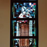 St. Theresa Stained Glass Window Art Print