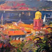 St Tropez Sailing Art Print
