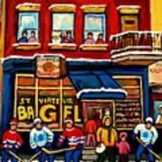 St. Viateur Bagel Hockey Practice Art Print