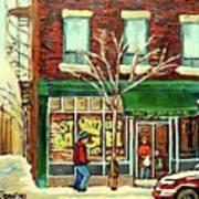 St Viateur Bagel Shop Montreal Art Print