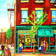 St. Viateur Bagel With Shoppers Art Print
