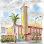 St. Victor's Catholic Church, West Hollywood, Ca Art Print