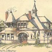 Stable For Mr. M. S. Hershey Lancaster Pennsylvania 1891 Art Print