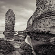 Stack And Chalk Cliff Art Print