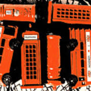 Stacking The Double Deckers Art Print