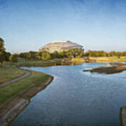 Stadium And Park Panorama Bleach Bypass Art Print