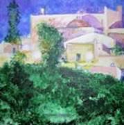 Staeulalia Church - Lit Up At Night Art Print