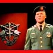 Staff Sergeant Barry Sadler Singing On National Tv - Ed Sullivan Show 1966-2016 Art Print
