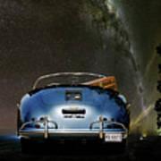 Star Gazing,1955 Porsche 356a 1600 Speedster, Under The Milky Way Art Print