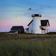 Stage Harbor Light Cape Cod Art Print