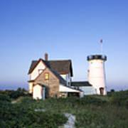 Stage Harbor Lighthouse Art Print