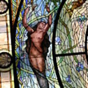 Stain Glass Set 3 - Bath House - Hot Springs, Ar Art Print