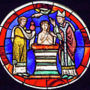 Stained Glass - Baptism - Musee De Cluny Art Print