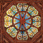 Stained Glass Ceiling Window Art Print