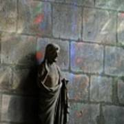 Stained Glass Illuminates Christ Art Print