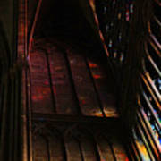 Stained Glass Impression Notre Dame Paris Art Print