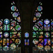Stained Glass Our Lady Of The Rosary Cathedral Manizales Colombia Art Print