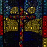 Stained Glass Reworked Art Print