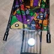 Stained Glass Sofa Table Art Print