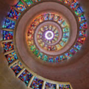 Stained Glass Spiral Art Print