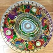 Stained Glass Table Top Art Print