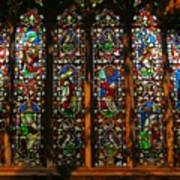 Stained Glass Window Christ Church Cathedral 2 Art Print