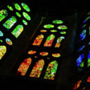 Stained Glass Windows -  Art Print