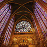 Windows Of Saint Chapelle Art Print