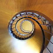 Staircase At Azay Le Rideau Art Print