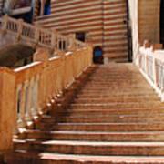 Staircase At Scala Della Ragione - Verona Italy Art Print