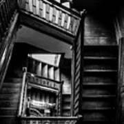 Staircase In Swannanoa Mansion Art Print