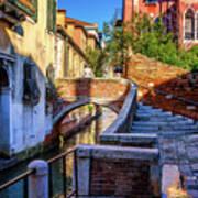 Staircase To Bridge In Venice_dsc1642_03012017 Art Print