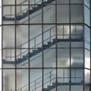 Stairs Behind Glass Art Print