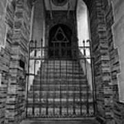 Stairs Beyond B-w Art Print