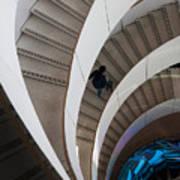 Stairs  Bruininks Hall University Of Minnesota Campus Art Print