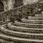 Stairs To Canal Bridge Venice_dsc1637_03012017  Art Print
