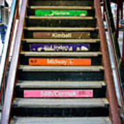 Stairs To The Chicago L Art Print