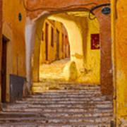 Stairway Inside Beni Isguen Art Print