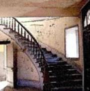Stairway -  Meade Hotel - Bannack Mt Art Print