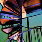Stairway Bright Art Print