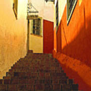 Stairway Guanajuato Art Print